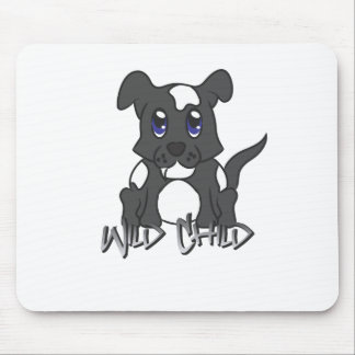 Puppy WC black Mouse Pads