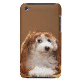 Puppy wearing ginger wig iPod Case-Mate case