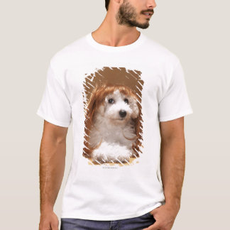 Puppy wearing ginger wig T-Shirt