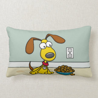 Puppy with Food Pillow Cushion