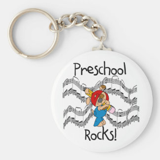Puppy With Pencil Preschool Rocks Key Ring