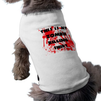 Puppy Zombie Killing Shirt Sleeveless Dog Shirt