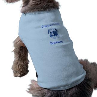 Puppy's 1st Birthday T Shirt (Boys)