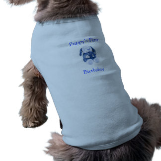 Puppy's 1st Birthday T Shirt (Boys) Sleeveless Dog Shirt