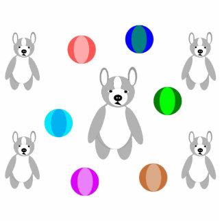 Puppys & balls photo sculpture magnet