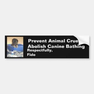 Puppy's Bath Time Campaign Bumper Sticker