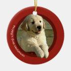 Puppy's First Christmas (Golden Retriever) Christmas Ornament