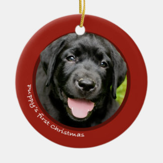 Puppy's First Christmas (Labrador Retriever) Christmas Ornament