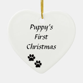 """Puppy's First Christmas"" Ornament"