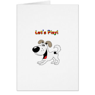 Pup's Invitation to Play! Greeting Card