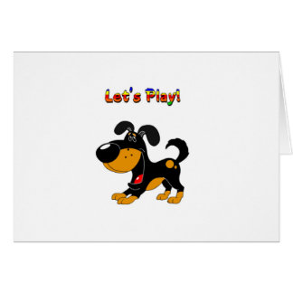 Pup's Invitation to Play! Card