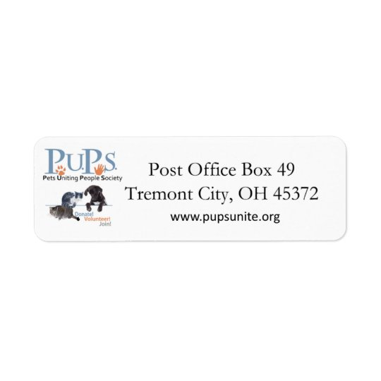 PUPs Return Address Labels