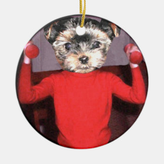 Pups workout christmas tree ornaments