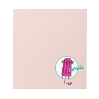 Pupsicle Pun Illustration Notepad