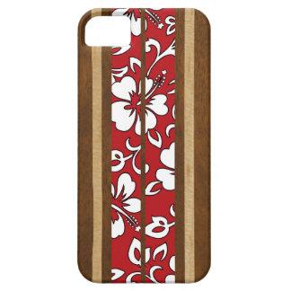 Pupukea Hibiscus Hawaiian Surfboard iPhone 5 Cases
