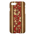 Pupukea Vintage Hawaiian Faux Wood Surfboard iPhone 8/7 Case