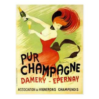 pur champagne postcard