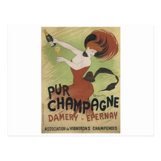 PUR CHAMPAGNE Vintage Art Poster print Postcard