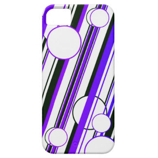 PUR-polarize Circle and Stripes graph IC phone cov iPhone 5 Case