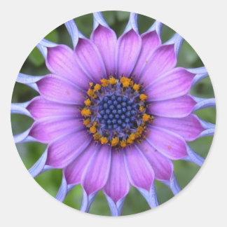 PUR-polarize more flower Classic Round Sticker