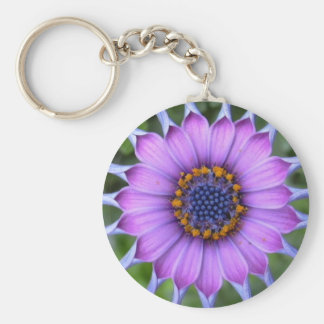 PUR-polarize more flower Basic Round Button Key Ring
