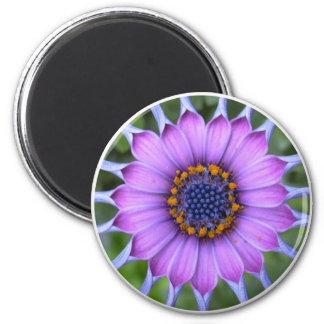 PUR-polarize more flower 6 Cm Round Magnet