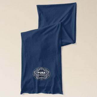 PURA logo scarf navy