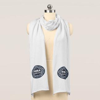 PURA logo scarf white