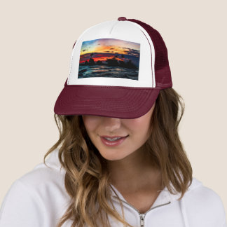 Pura Tanah Lot Temple, Bali, at sunset Trucker Hat