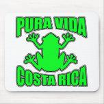 Pura Vida Costa Rica Dark Green Frog Mouse Mats