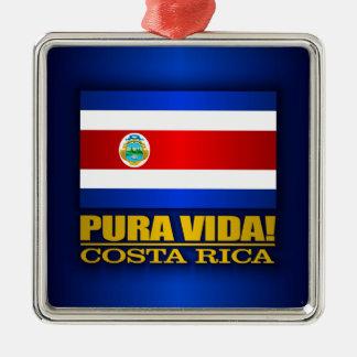 Pura Vida! Costa Rica Silver-Colored Square Decoration
