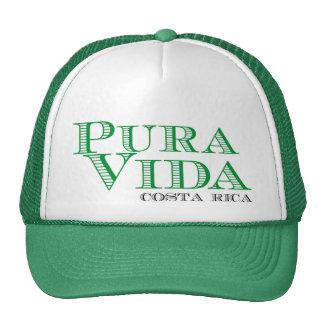 Pura Vida Green Costa Rica Souvenir Cap