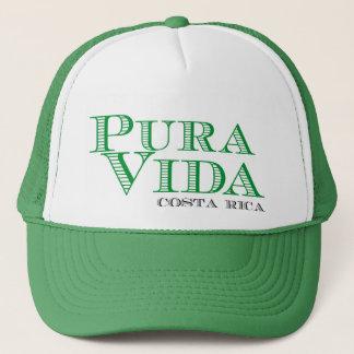 Pura Vida Green Costa Rica Souvenir Trucker Hat