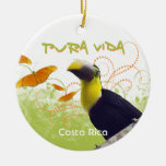 Pura Vida Toucan & Butterflies Ornament
