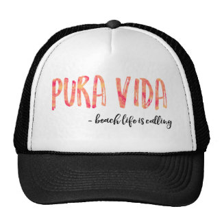 Pura Vida Women's Orange Sunset Trucker Hat