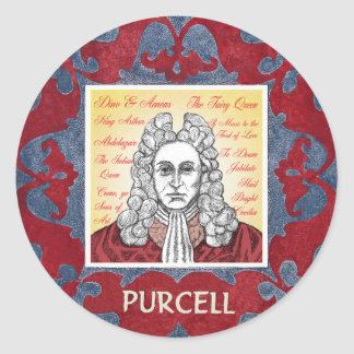Purcell Classic Round Sticker