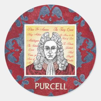 Purcell Round Sticker
