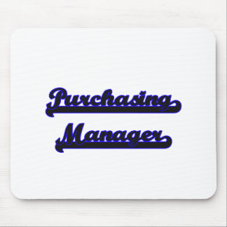 Purchasing Manager Classic Job Design Mouse Pad