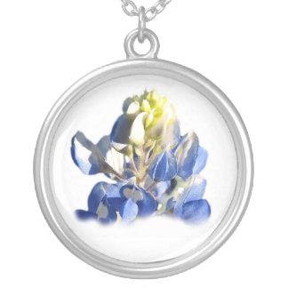 Pure Blue Bonnet Necklace round