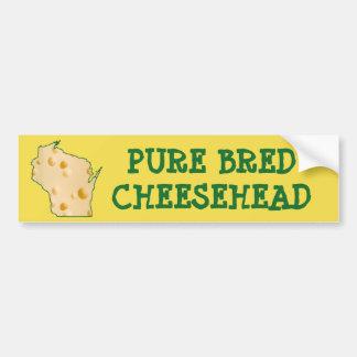 Pure Bred Cheesehead Wisconsin Funny Bumper Sticke Bumper Sticker