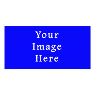 Pure Bright Blue Color Trend Blank Template Custom Photo Card