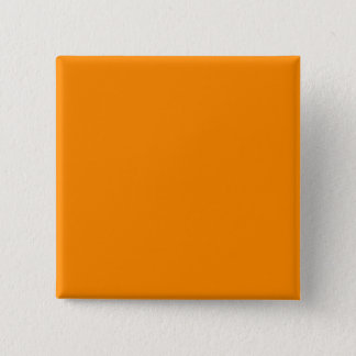 Pure Bright Orange Customized Template Blank 15 Cm Square Badge