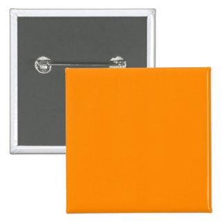 Pure Bright Orange Customized Template Blank 15 Cm Square Badge