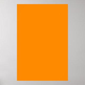 Pure Bright Orange Customized Template Blank Print