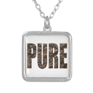 Pure chocolate grated silver plated necklace