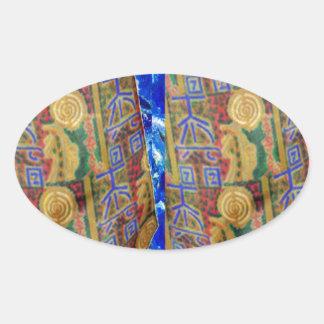 PURE Color REIKI Healing Symbols by MASTER Navin J Oval Sticker
