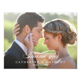Pure Elegance Wedding Photo Thank You Card 11 Cm X 14 Cm Invitation Card