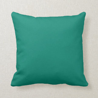Pure Emerald Green Color Trend Blank Template Throw Cushion