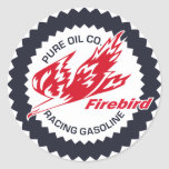 Pure Firebird Racing Gasoline vintage sign Round Stickers