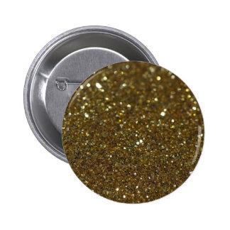Pure Gold Glimmer 6 Cm Round Badge